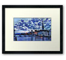 Zurich Blue Framed Print
