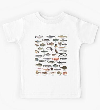NZ fish species Kids Tee