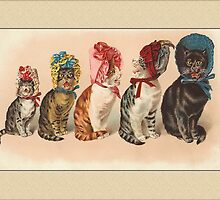 Cats with Hats General Greetings by Yesteryears