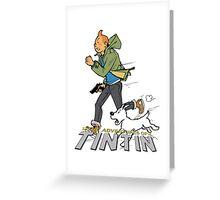 tintin adventures Greeting Card