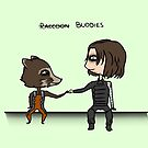 Raccoon Buddies by Zoe Kierce