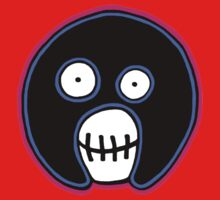 The Mighty Boosh –  Blue & Pink Mask Kids Tee