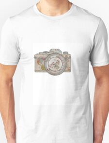 MAP OF THE WORLD ON CAMERA T-Shirt