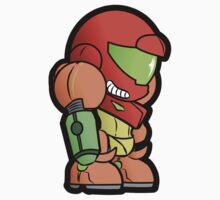 Paper Samus (Varia Suit Sticker) by Kellen Haney