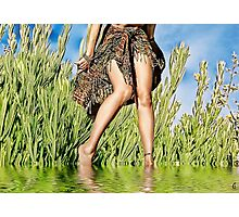 A Lovely-Legged Woman Photographic Print
