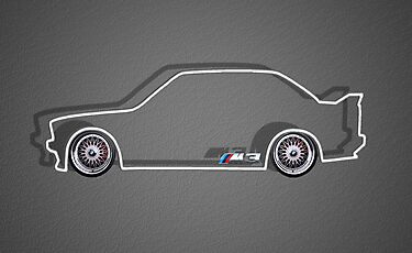 BMW M3 Silhouette with BBS rims - white by Benjamin Whealing