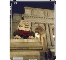 Classic Lion Sculpture, New York Public Library, New York City iPad Case/Skin
