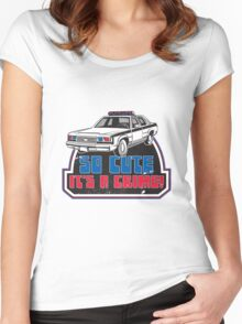 SO CUTE IT'S A CRIME Women's Fitted Scoop T-Shirt