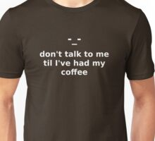 Coffee (white text) Unisex T-Shirt
