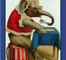 Circus Elephant Greetings by Yesteryears