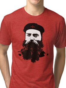 Ned Kelly Meets Che - any colour shirt Tri-blend T-Shirt