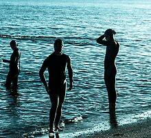 Triathletes in Silhouette by Andrew Lever