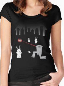 Destroy Cute Little Animals Women's Fitted Scoop T-Shirt