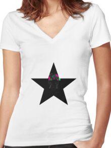 """""""I'm a Blackstar. I'm a Blackstar."""" Women's Fitted V-Neck T-Shirt"""