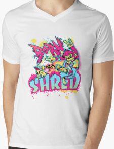 BORN TO SHRED Mens V-Neck T-Shirt