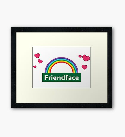 The IT Crowd – Friendface Logo Framed Print