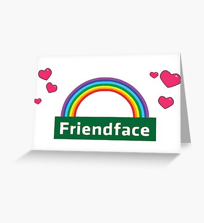 The IT Crowd – Friendface Logo Greeting Card