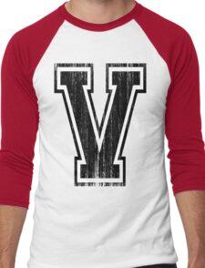 Big Varsity Letter V Men's Baseball ¾ T-Shirt