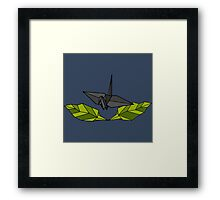 Origami Crest Framed Print