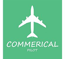 Commerical Pilot green Photographic Print