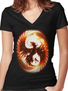 Phoenix Alternative Women's Fitted V-Neck T-Shirt
