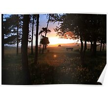 Cotswolds Sunset Poster