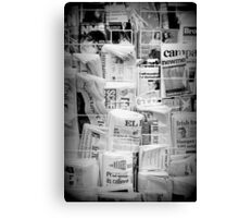 Read All About it - London Canvas Print