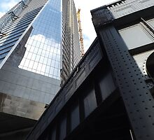 High Line, Hudson Yards Skyscraper, Midtown West, New York City by lenspiro
