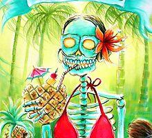Day of the Dead Mi Piña Colada by Heather Calderon