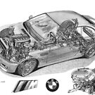 BMW M3 (E46) Cutaway Text removed by Steve Pearcy