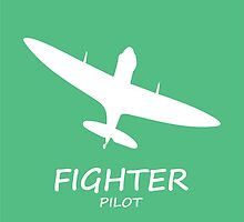 Fighter Pilot green by rustyredbubble