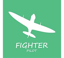 Fighter Pilot green Photographic Print