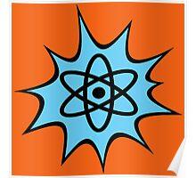 Dynamic Atomic symbol cartoon style science geek gifts Poster