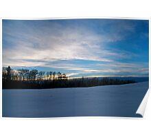 Winter Landscape Alberta, Canada Poster