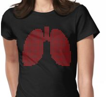 8bit lungs Womens Fitted T-Shirt