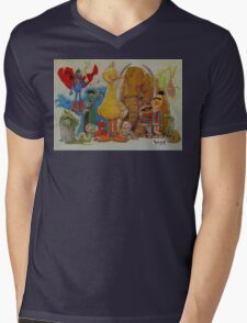 Sesame Strange Mens V-Neck T-Shirt