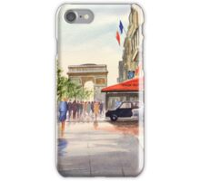 Champs Elysees and Arc De Triomphe iPhone Case/Skin