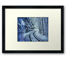 Winter's Road Framed Print