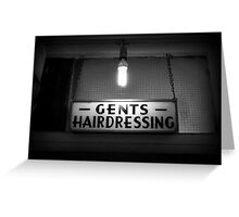 Gents Hairdressing - Soho, London Greeting Card