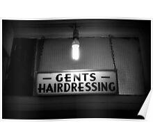 Gents Hairdressing - Soho, London Poster