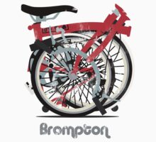Brompton Bicycle Folded Baby Tee