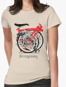 Brompton Bicycle Folded Womens Fitted T-Shirt