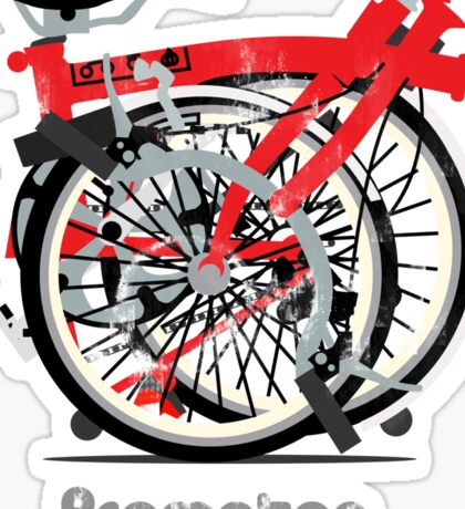 Brompton Bicycle Folded Sticker