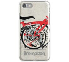 Brompton Bicycle Folded iPhone Case/Skin
