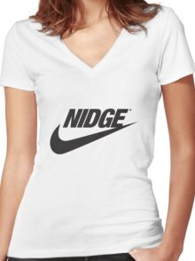 Nidge - Just Buy it. Women's Fitted V-Neck T-Shirt