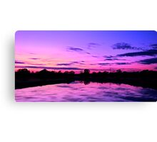Purple and blue sunset scene Canvas Print