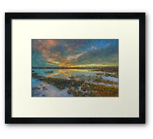 The Seagrass Sunset Framed Print