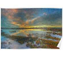 The Seagrass Sunset Poster