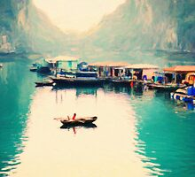 View Of Tourist Boats In Halong Bay, Vietnam by Adam Asar