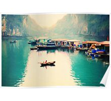 View Of Tourist Boats In Halong Bay, Vietnam Poster